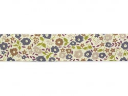 1 m of bias binding (20 mm) with flowers - Sophie