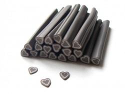 Acheter Cane coeur marron- en pâte polymère - à trancher - 0,49€ en ligne sur La Petite Epicerie - Loisirs créatifs