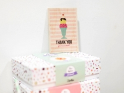 "1 carte postale en bois - ""Glace Thank you"""