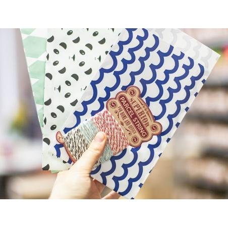 1 pochette cadeau - Vagues bleues Kado Design - 2