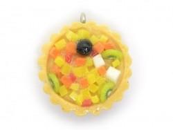 Pendentif Tarte aux fruits exotiques