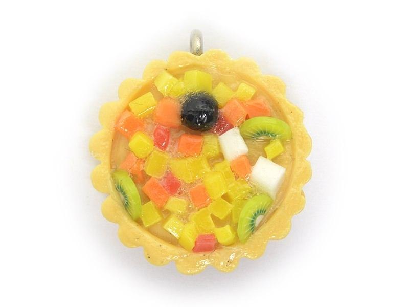 Pendentif Tarte aux fruits exotiques   - 1