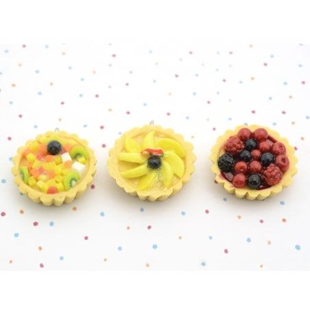 Pendentif Tarte aux fruits exotiques   - 3