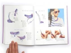 """French book """" Bijoux tissés- Crochet,brésilien,macramé,tresse"""""""