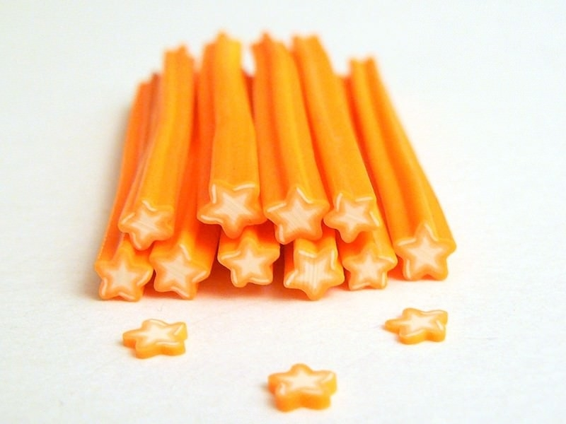 Star cane - orange