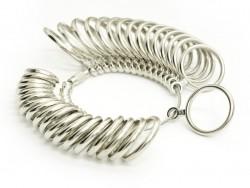 Metal ring size gauge