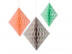 Honeycomb diamonds (3 pcs)