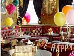 Lot de 3 rosaces en papier de soie - couleur girly Talking tables - 3