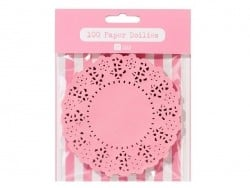 100 mini napperons -  rose