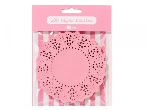 100 mini napperons -  rose