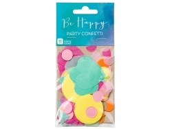 Confetti in different colours and shapes