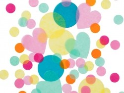 Confettis multicolores et multiformes