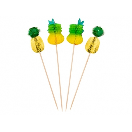 Acheter 12 toppers / pics Ananas pour décorer cocktails et aliments - 7,50€ en ligne sur La Petite Epicerie - 100% Loisirs c...