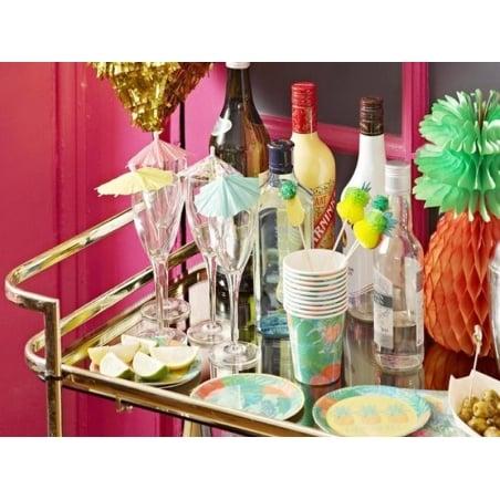 12 toppers / pics Ananas pour décorer cocktails et aliments