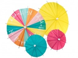 24 paper cocktail umbrellas for decorating food