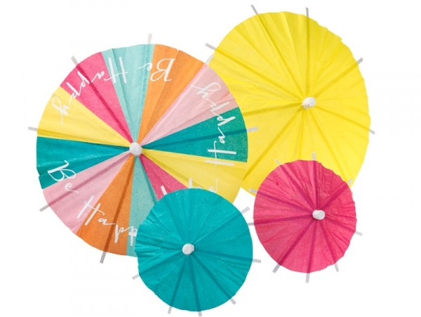 24 parasols en papier pour décorer cocktails et aliments