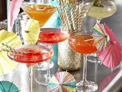 24 Cocktailschirme aus Papier - Deko für Cocktails und Lebensmittel