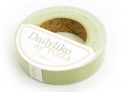 Fabric tape- Lin vert uni Toga - 1