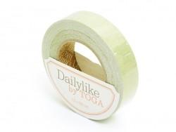 Fabric tape - flax green (plain-coloured)
