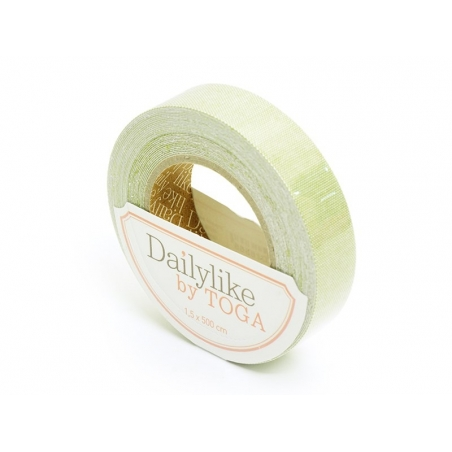 Fabric tape- Lin vert uni