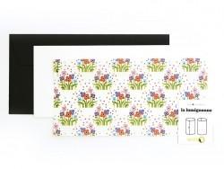 """Postkarte / Windlicht """"Folkloristische Blumen"""" - Lumignonne von Fifi Mandirac"""