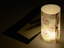"Postcard / paper lantern ""Folk flowers"" - Lumignonne by Fifi Mandirac"