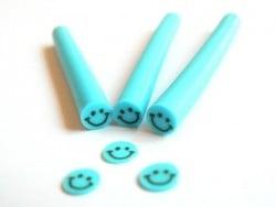Cane sourire Bleu- en pâte polymère pour le modelage