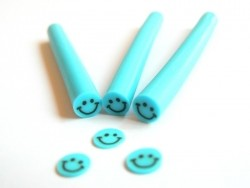 Smiley cane - blue