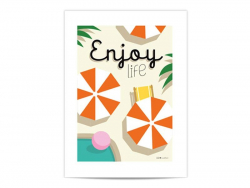 "Mini-affiche ""Enjoy Life"""