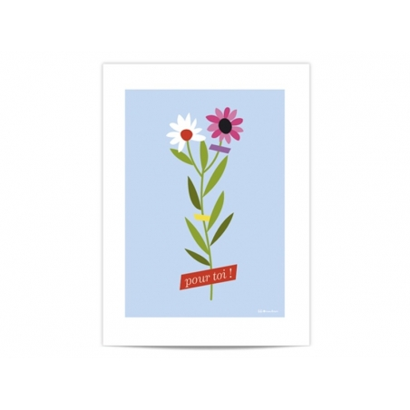 "Mini poster ""Pour toi"" (For you)"