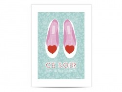 "Mini poster ""Ce soir je serai la plus belle"" (Tonight I will be the most beautiful girl)"