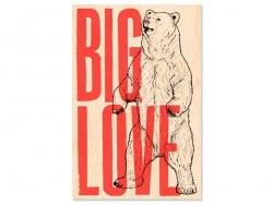 "1 Postkarte aus Holz - ""Big Love"""