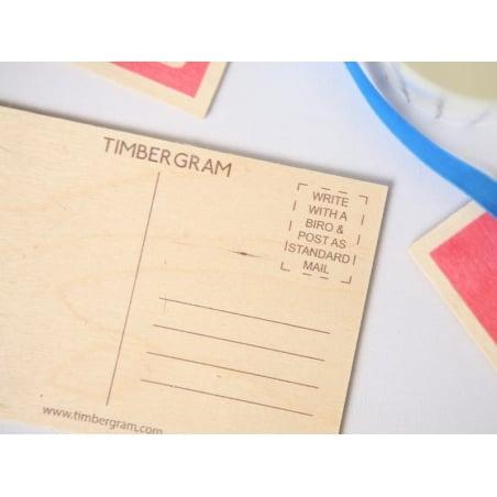 "1 carte postale en bois - ""Cup of tea"""