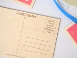 "1 carte postale en bois - ""Glace"""