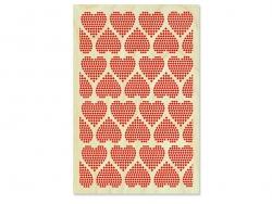 "1 Postkarte aus Holz - ""Herzen"""