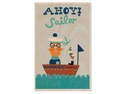 "1 Postkarte aus Holz - ""Sailor"""