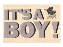 "1 wooden postcard - ""Boy"""