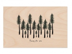 "1 carte postale en bois - ""Pining for you"""