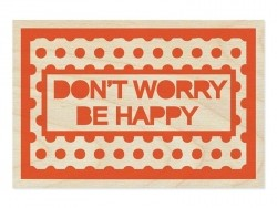 "1 carte postale en bois - ""Don't worry"""