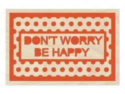 "1 Postkarte aus Holz - ""Don't worry"""