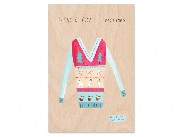 "1 wooden card - ""Have a cosy Christmas"""