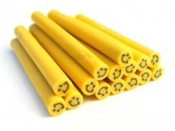 Cane sourire Jaune- en pâte polymère pour le modelage