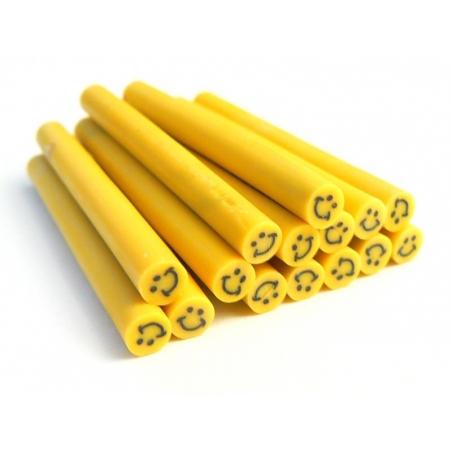 Cane sourire Jaune- en pâte polymère pour le modelage  - 2