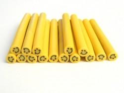 Cane sourire Jaune- en pâte polymère pour le modelage  - 3