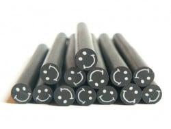 Cane sourire Noir- en pâte polymère pour le modelage