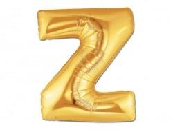 1 goldfarbener Buchstabenballon (40 cm) - Buchstabe Z