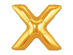 1 golden letter balloon (40 cm) - letter X