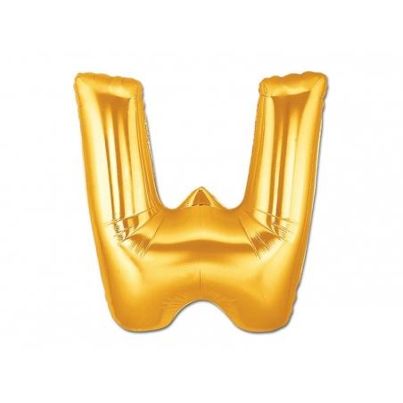 Acheter 1 ballon alphabet doré 40 cm - lettre W - 1,49€ en ligne sur La Petite Epicerie - Loisirs créatifs