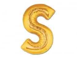 1 ballon alphabet doré 40 cm - lettre S  - 1
