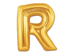 1 golden letter balloon (40 cm) - letter R